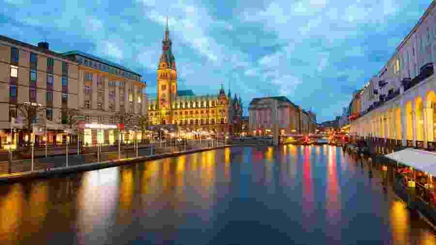 A cidade de Hamburgo, na Alemanha - Reprodução