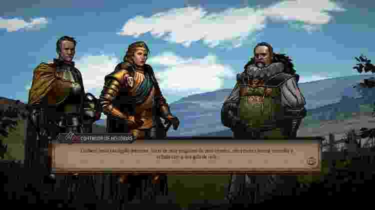 A narrativa lembra uma aventura de RPG de mesa - Reprodução