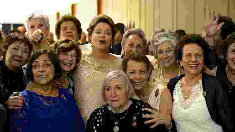 Dilma reencontra ex-companheiras da Torre das Donzelas durante a posse de seu segundo mandato, em janeiro de 2015 - Divulgação/Susanna Lira - Divulgação/Susanna Lira
