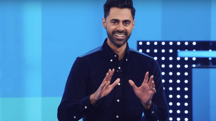 """Hasan Minhaj em episódio de """"Patriot Act"""" - Reprodução/Youtube"""