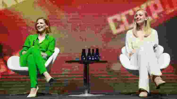 "Jessica Chastain e Sophie Turner no painel de ""X-Men: Fênix Negra"" na CCXP 18 - Iwi Onodera/UOL - Iwi Onodera/UOL"