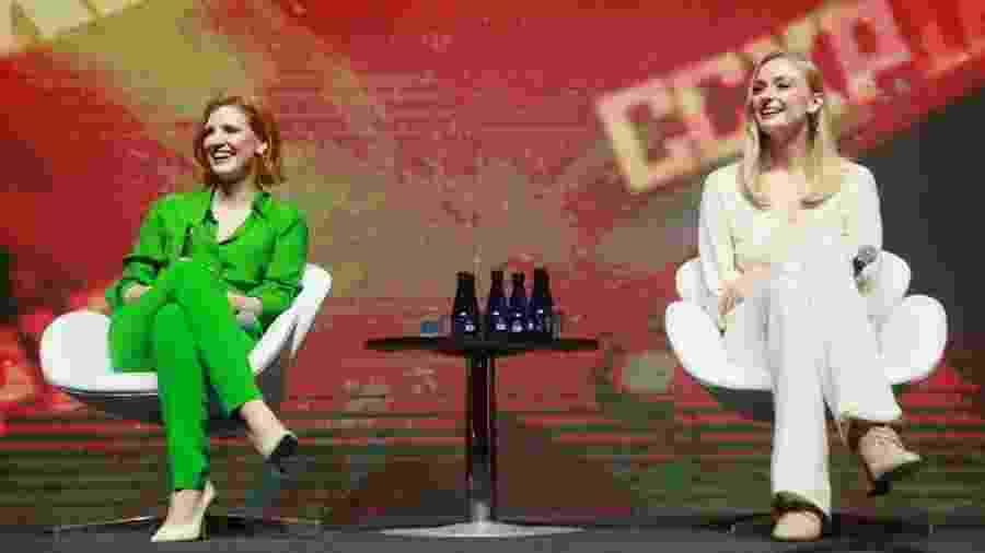 "Jessica Chastain e Sophie Turner no painel de ""X-Men: Fênix Negra"" na CCXP 18 - Iwi Onodera/UOL"