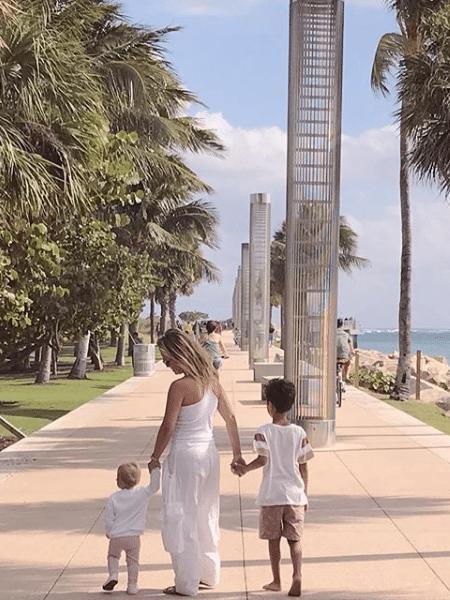 Eliana passeia com os filhos em Miami - Reprodução/Instagram
