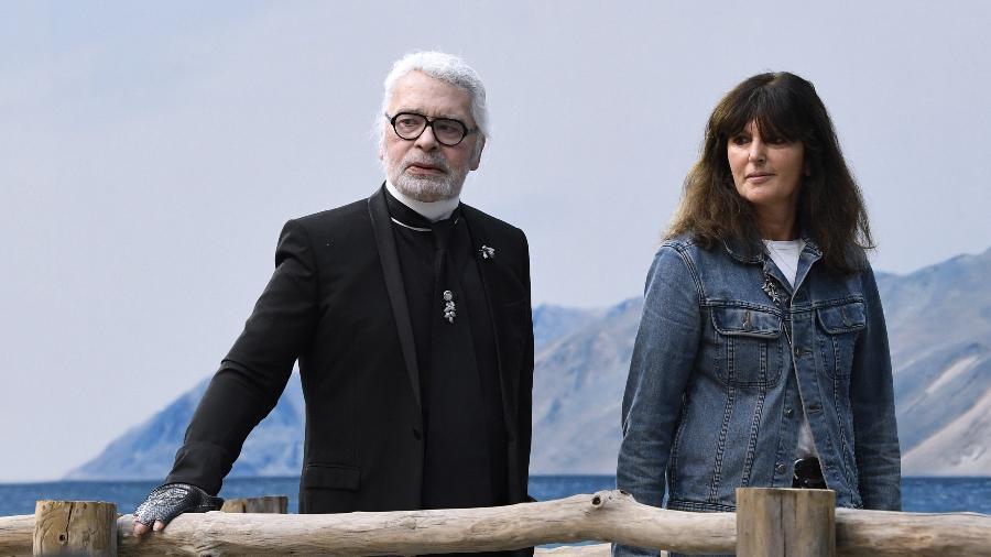 Karl Lagerfeld e Virginie Viard - AFP