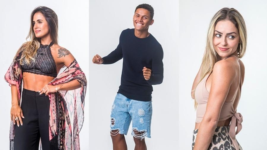"""Carolina, Darnley e Paula estão no oitavo paredão do """"BBB19"""" - Montagem/Globo/Victor Pollak"""
