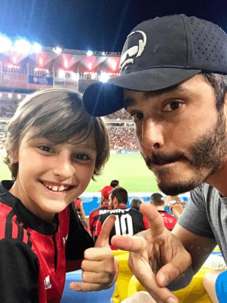 Thiago Rodrigues com o filho, Gabriel - Reprodução/Instagram
