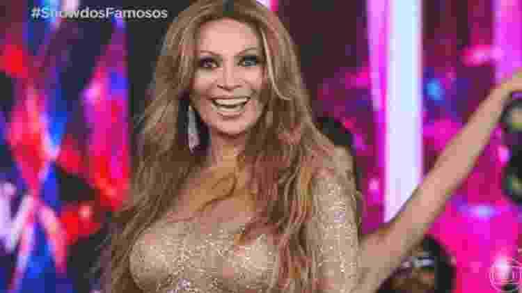 """Solange Almeida interpreta Jennifer Lopez no """"Domingão"""" - Reprodução/TV Globo"""