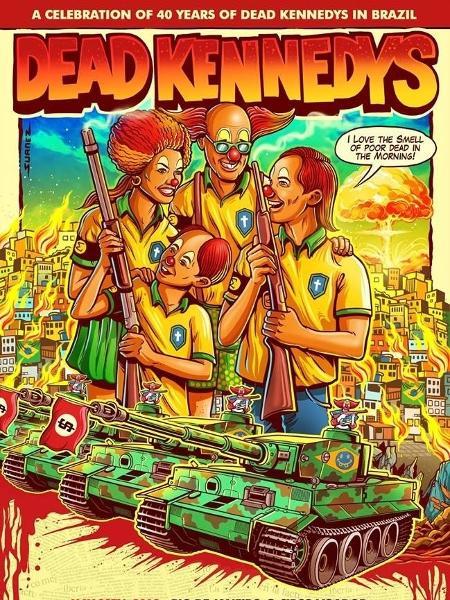 Pôster da turnê brasileira do Dead Kennedys no Brasil - Divulgação