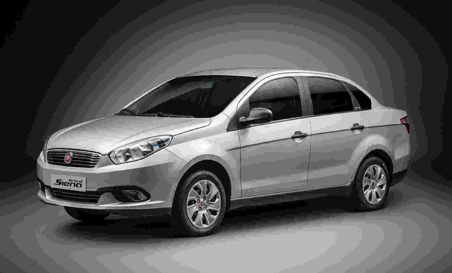 Fiat Grand Siena Attractive 1.4 preparado de fábrica para receber kit GNV - Divulgação