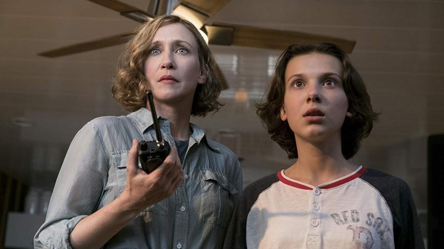 """Vera Farmiga e Millie Bobby Brown em """"Godzilla 2 - O Rei dos Monstros"""" - Divulgação"""