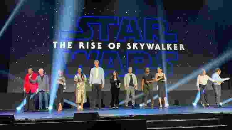Elenco de Star Wars: A Ascensão Skywalker chega para o painel da D23 - Reprodução/Twitter