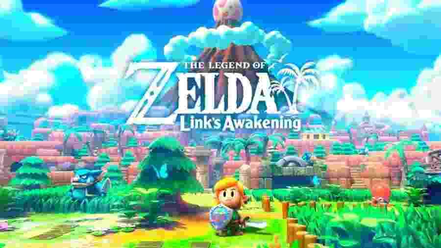 """""""Zelda: Link""""s Awakening"""" é um remake do clássico jogo de Game Boy dos anos 90 - Divulgação"""