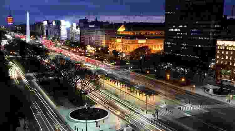 A região do Obelisco, no Centro, concentra grande variedade de hotéis - Ente de Turismo de la Ciudad de Buenos Aires/Divulgação