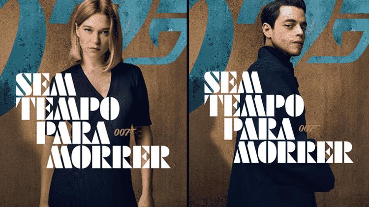 Léa Seydoux e Rami Malek no cartaz oficial de 007 - Sem Tempo Para Morrer - Jessica Quinalha/NBCUniversal