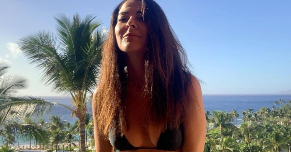 Ana Paula Padrão, de férias no Havaí