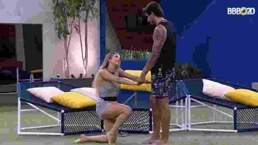 Gabi pede Guilherme em namoro no BBB 20 - Reprodução/GlobosatPlay