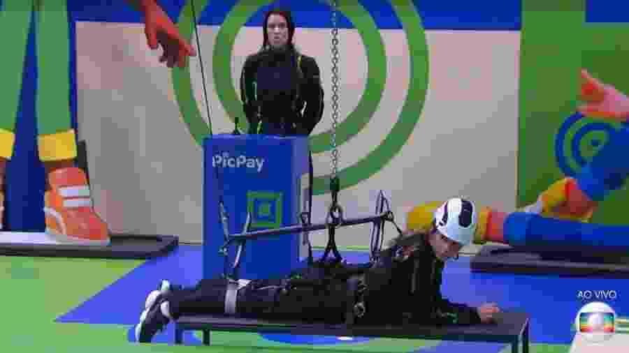 Ivy e Gizelly vencem a décima prova do líder - Reprodução/TV Globo