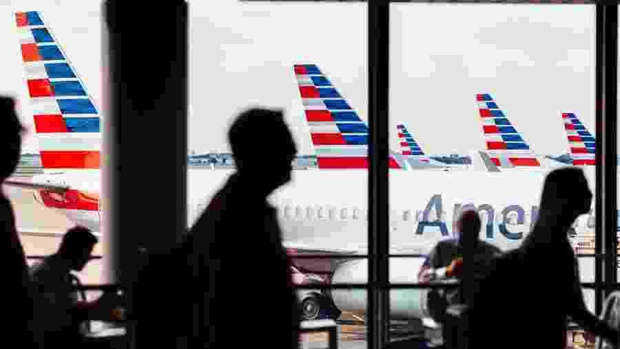 American Airlines reduziu oferta de voos em função da pandemia - Getty Images