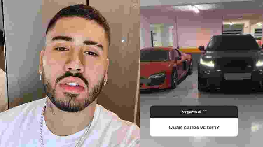 Kevinho mostra carrões de luxo; juntos, os veículos valem mais de R$ 1,6 milhão - Reprodução/Instagram