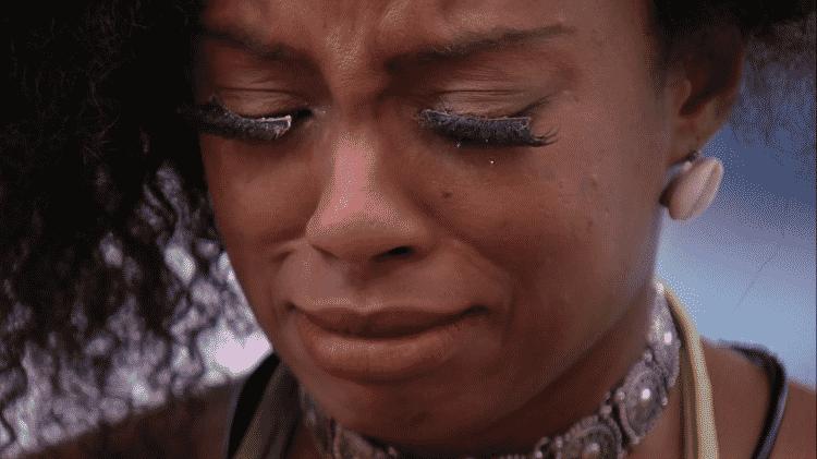BBB 21: Lumena chorando - Reprodução/Globoplay - Reprodução/Globoplay