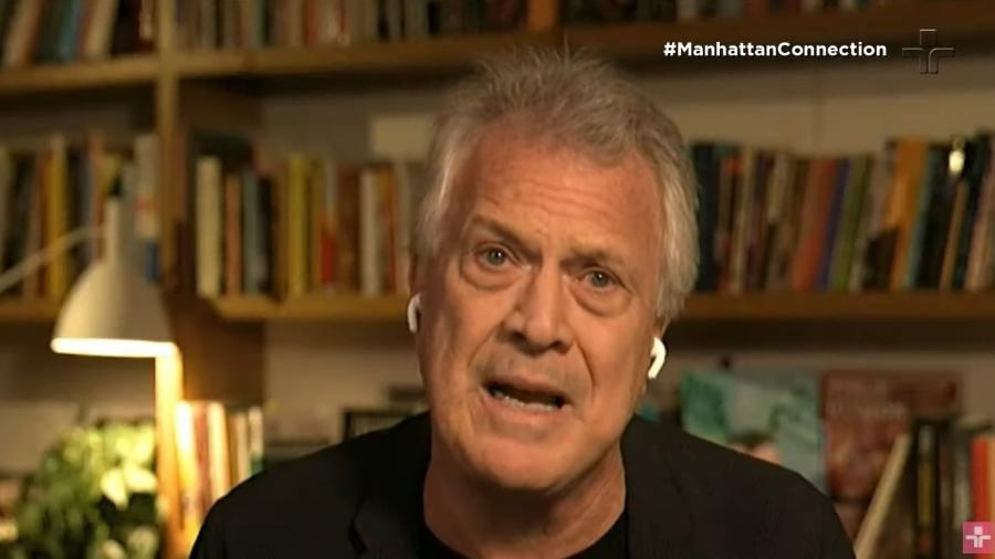 """Em entrevista ao """"Manhattan Connection"""", Pedro Bial diz que só entrevistaria Lula ao vivo com a ajuda de um polígrafo - Reprodução"""