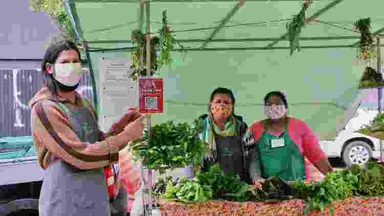 Papayas: QR Code de feirinha ecológica em Porto Alegre - Reprodução/Papayas - Reprodução/Papayas