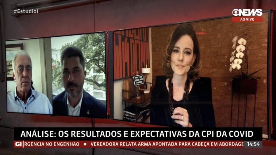 Jornalista Natuza Nery rebate o senador Marcos Rogério na GloboNews - Reprodução/GloboNews