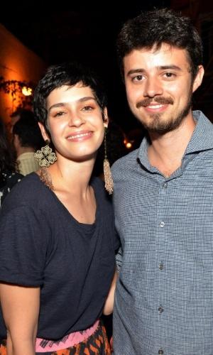 2.out.2015 - A atriz Maria Flor e o diretor Pedro Morelli durante a exibição do filme