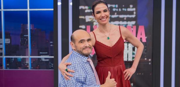 """Edgar Vivar, o Sr. Barriga, é entrevistado no """"Luciana By Night""""  - Artur Igrecias/RedeTV!"""