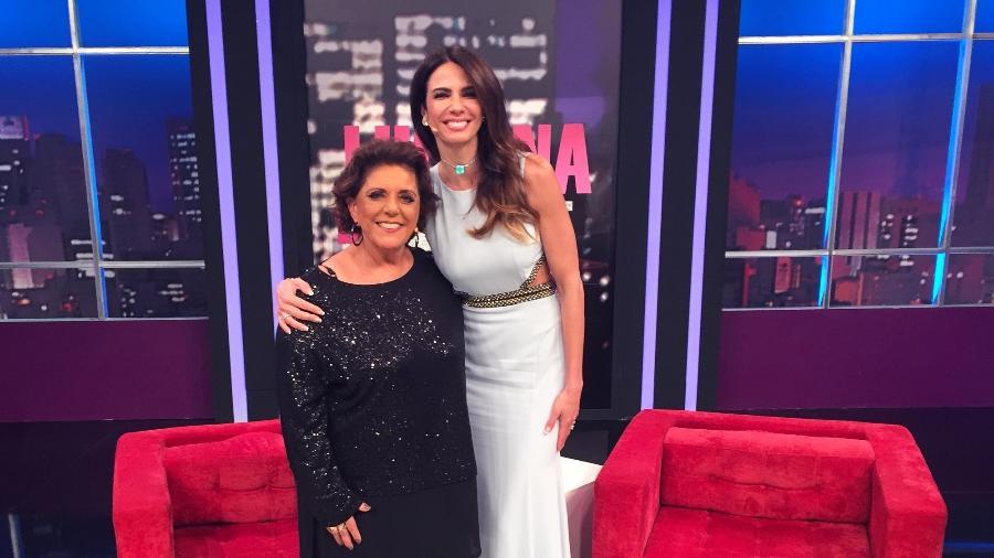 """Leda Nagle dá entrevista a Luciana Gimenez no """"Luciana by Night"""" - Divulgação/RedeTV!"""