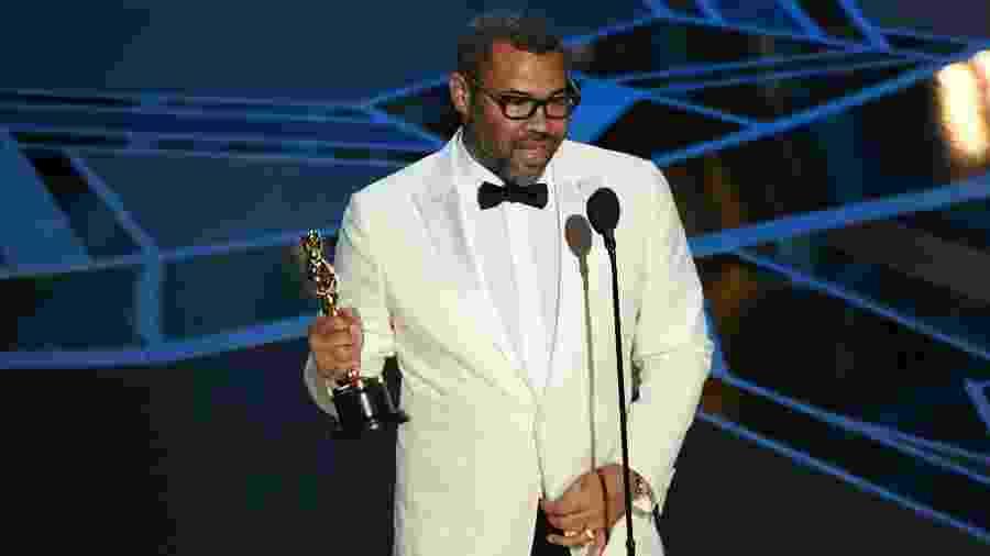 Jordan Peele recebe o Oscar de roteiro original no 90º prêmio da Academia - Kevin Winter/Getty Images
