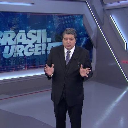 "José Luiz Datena apresenta o ""Brasil Urgente""  - Reprodução/Band"