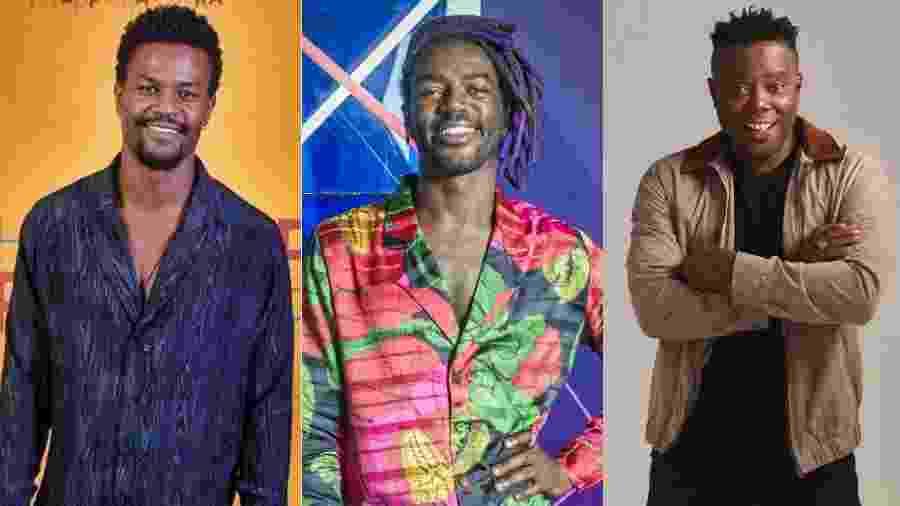 David Junior, Jonathan Azevedo e Érico Bráz fazem parte de casting da Globo - Montagem/UOL