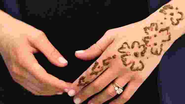 Henna usada no antebraço da duquesa de Sussex é feita com plantas - Pool/Getty Images - Pool/Getty Images