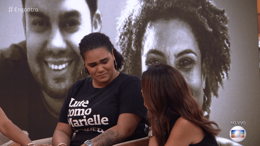 """Filha de Marielle Franco, Luyara, no """"Encontro com Fátima Bernardes"""" - Reprodução/Globo"""