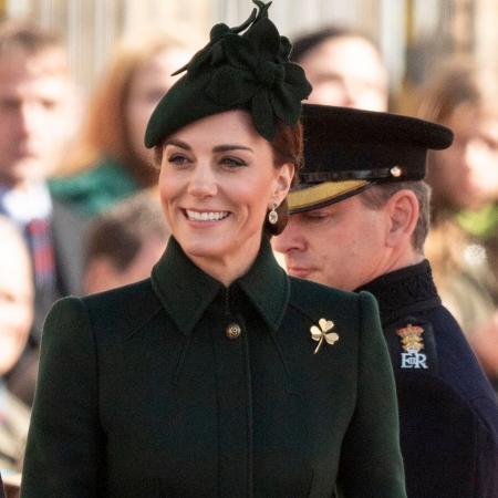 A duquesa de Cambridge em evento da Guarda Irlandesa - UK Press via Getty Images