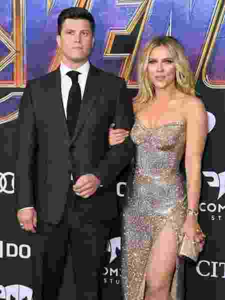 Colin Jost e Scarlett Johansson - VALERIE MACON / AFP