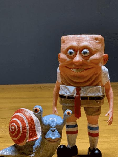 Bob Esponja versão em 3D - Reprodução/Instagram/marvelous_mikee