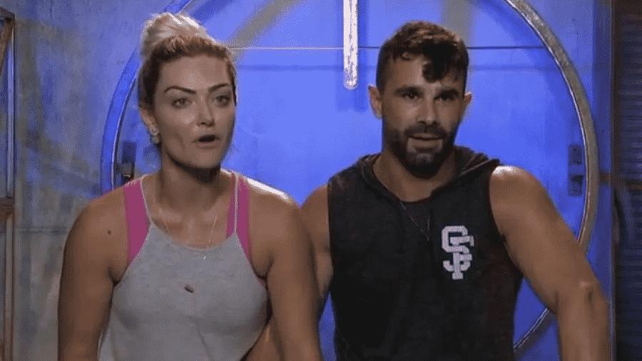 Laura Keller e Jorge Souza no Power Couple  - Reprodução/RecordTV