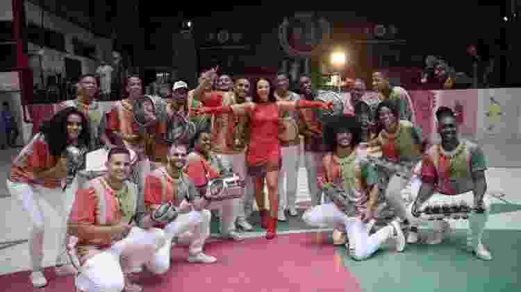 Paolla Oliveira grava clipe na Grande Rio - Gabriel Gomes/Kondzilla