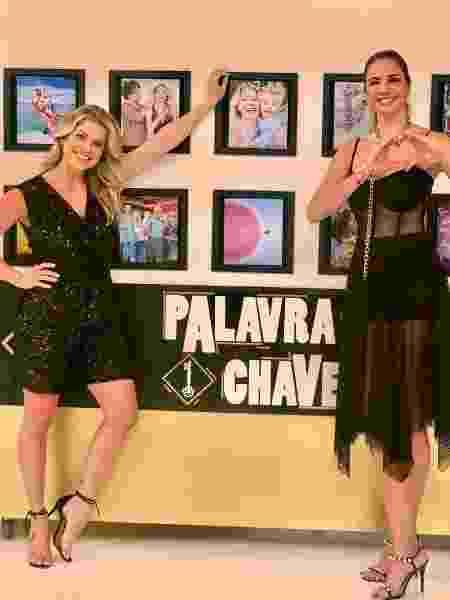 """Karina Bacchi e Luciana Gimenez no """"Superpop"""" - Divulgação Rede TV!"""