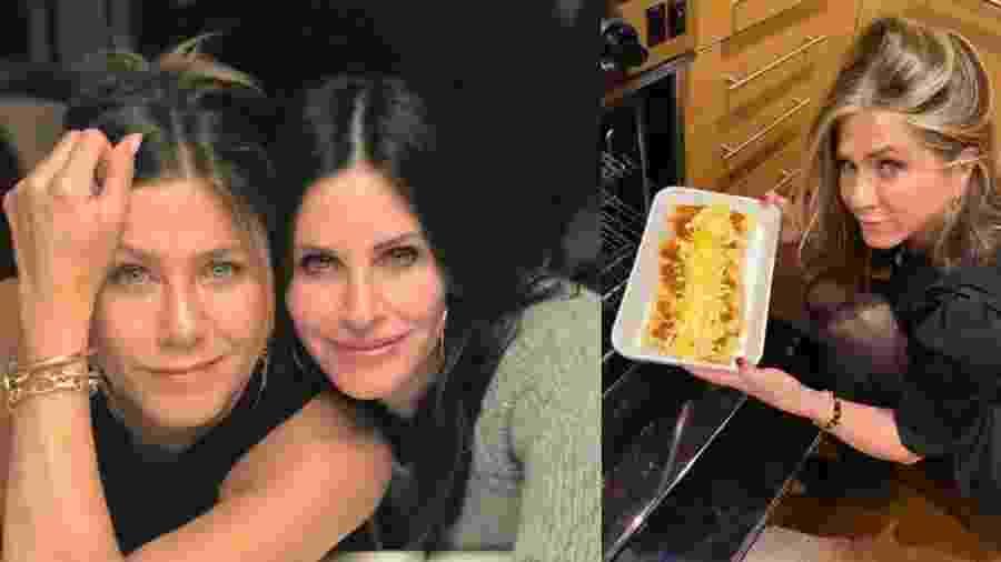 Friends na vida real: Jennifer Aniston e Courteney Cox se reúnem em Ação de Graças - reprodução/Instagram