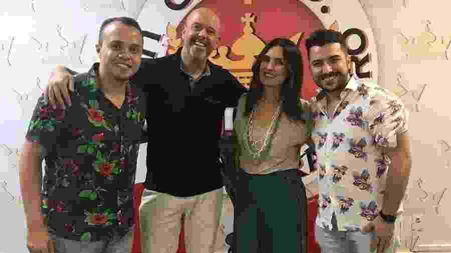 Fátima Bernardes e Alex Escobar no barracão da Viradouro - Reprodução/Instagram