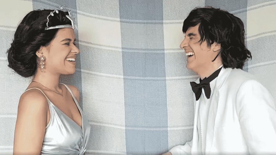 """Pamella Machado e Marcelo Laham na paródia de """"Frozen"""" - Instagram/Reprodução"""