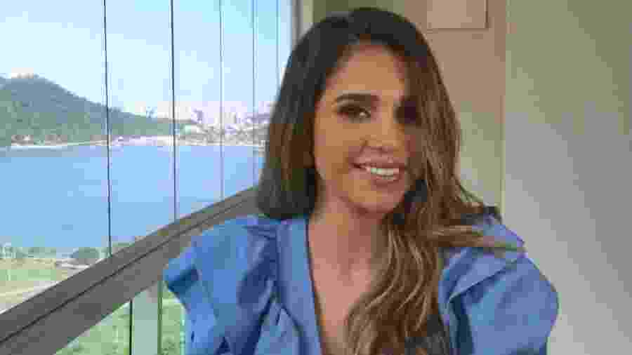 Gizelly Bicalho em sua estreia na Globo - Globo/Reprodução