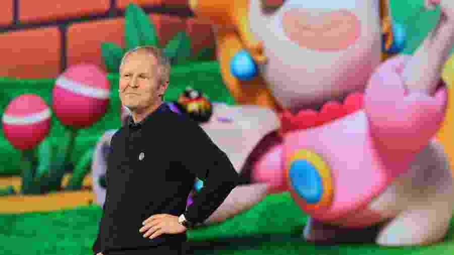 Yves Guillemot em foto da E3 2017, em Los Angeles. O cofundador e presidente-executivo da Ubisoft promete mudanças na empresa após relatos de assédio - Christian Petersen/Getty Images