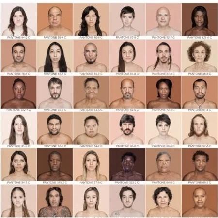 Projeto Humanae, de Angélica Dass, fotografou 2.500 pessoas para mostrar a pluralidade de tons de pele - Reprodução