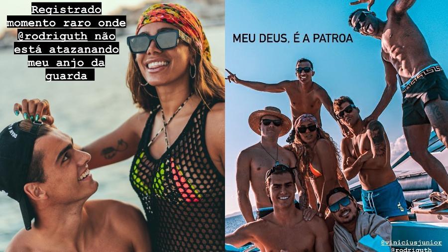 Anitta compartilhou fotos de passeio de barco ao lado de amigos - Reprodução/Instagram