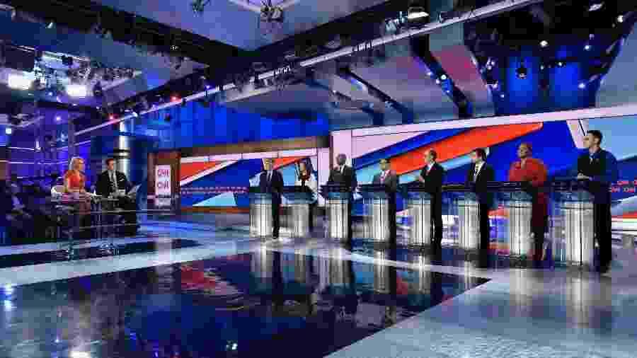 Debate eleitoral na CNN americana, que servirá de modelo para os debates na CNN Brasil  - Divulgação