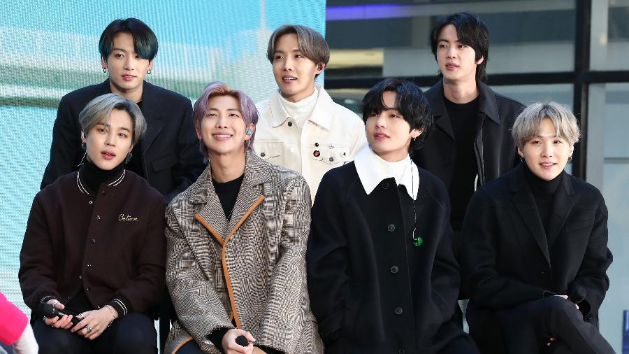 """A banda de K-pop BTS visita o """"Today"""" Show no Rockefeller Plaza - Cindy Ord/WireImage"""